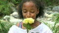 Teen African Girl with Flowers 21364731