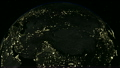 Earth 1004: The Earth at night with city lights. 21576434