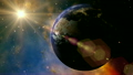 Earth 1007: The Planet Earth rotates in space. 21576490