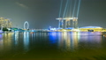 Laser Show in Singapore Marina Bay. time lapse. 21577183