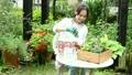 花を鉢に植える女性 22371218