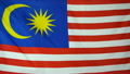 Slowmotion real textile Flag of Malaysia 22518621