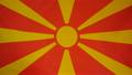 Slowmotion real textile Flag of Mazedonia 22518622