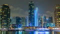 View of Dubai Marina Towers and yahct in Dubai at 22612443