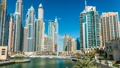 View of Dubai Marina modern Towers in Dubai at day 22750595