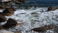 rocky shore with waves of the Sea of Japan in the  23030827