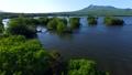 大沼 空撮 湖の動画 23071653