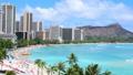 ハワイ ワイキキビーチ  エメラルドグリーンの常夏ビーチ 23543638