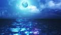 夜の海 CG背景 23621491