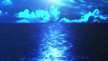 海面から夜の海 CG背景 23621494