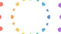 花火や波紋のように広がるハート 円形 レインボーカラー・虹色 背景透過・アルファチャンネル付き 23903837