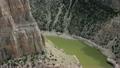 Camera follows the steep walls of Bighorn Canyon 23904870