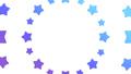 花火や波紋のように広がる星 円形 ブルー系 背景透過・アルファチャンネル付き 23907001