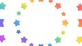花火や波紋のように広がる星 円形 レインボーカラー・虹色 背景透過・アルファチャンネル付き 23907003