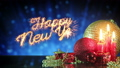 happy new year greetings sparkler last 10s loop 24000985