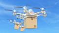 由无人机包裹交付的概念视频 24093447