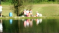 Shot of lake scenic in summer. Blurred nature 24524450