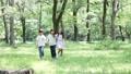 森林の中を歩く 小学生 24818381