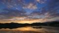 タイムラプス湖の夜明け permingM1609031 映像素材 24866644