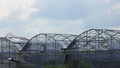 Clouds moving over green houses in Korea 25041124
