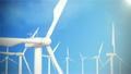 FullHD resolution, wind turbine, generator on sky 25127924