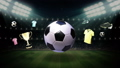Around Soccer ball icon, football animation 25129013