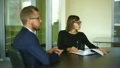 business meeting in office two business people 25137074