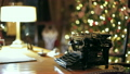 Retro Christmas interior with old typewriter 25566300