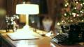 Retro Christmas interior with old typewriter 25566310