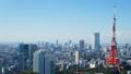 東京タワー タイムラプス 街並の動画 25989723