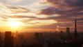 東京時間流逝東京塔和大城市和富士山火炬從日落到夜景變化長時間拍攝狹窄 26046032
