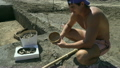 Archaeologist shows real found ancient bowl of 26123892