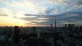 5K東京時間間隔東京鐵塔和整個市中心日落日落日落日落曝光修復 26192282