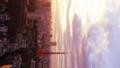 垂直材料東京時間流逝東京鐵塔和整個市中心日落日落太陽,日落曝光固定FI 26192293