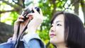女性 カメラ 撮影 動画撮る ミラーレス コンデジ 外 緑 木漏れ日 FIX 26210064