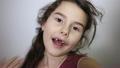 Portrait of preschooler girl with open mouth 26282225
