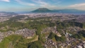 空撮の鹿児島市と桜島 上昇 26443507