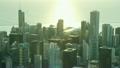 空撮 シカゴ 朝焼けの動画 26852010