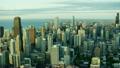 空撮 シカゴ 朝焼けの動画 26852023