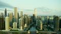 空撮 シカゴ 朝焼けの動画 26852115