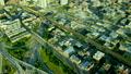 空撮 シカゴ 交差の動画 26852255