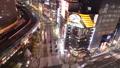 东京夜景活跃的汽车和人流Arashiyabashi穿越时间流逝修复 27114736