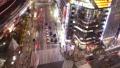 东京夜景活跃的汽车和人流Sekiyabashi穿越时间推移缩小 27114737