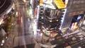 东京夜视图活跃汽车和流程人Sekiyabashi横穿时间间隔平底锅 27114739