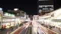 도쿄 황혼 붐비는 신주쿠 역 버스 터미널 시간 경과 수정 27430061
