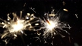 Firework sparkler burning with dancing snowflakes 27489870