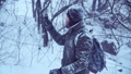 男 野外 雪の動画 27500643