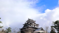 冬の松江城に雪が舞う タイムラプス 27565530