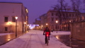 Steadicam shot of Krakow old town street and 27754913