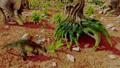 Dinosaur. Prehistoric Jungle, landscape, valley 27780506